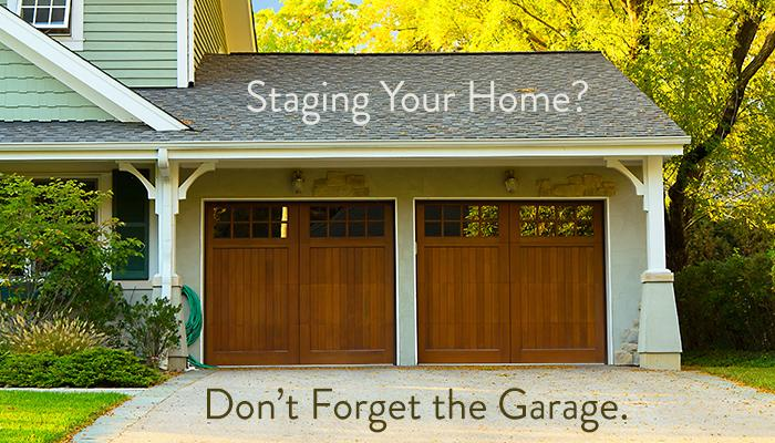 Staging Your Home? Don't Forget the Garage
